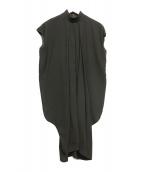 ENFOLD(エンフォルド)の古着「ハイネックブラウスワンピース」|ブラック