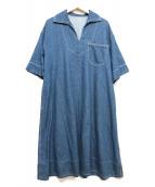 MACPHEE(マカフィー)の古着「コットンライトデニム セーラーカラーワンピース」|インディゴ