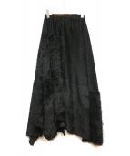 ZUCCA(ズッカ)の古着「シャギースカート」|ブラック