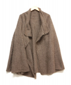 LAPINE BLANCHE(ラピーヌブランシュ)の古着「フェレットウールカーディガン」|グレー