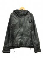 Lui's()の古着「ラムレザージャケット」|ブラック
