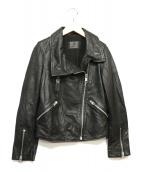ALL SAINTS(オールセインツ)の古着「ラムレザーライダースジャケット」|ブラック