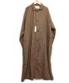 HARVESTY(ハーベスティ)の古着「ウールコート」|ブラウン
