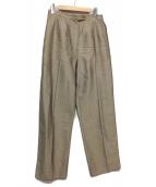 HERMES(エルメス)の古着「センタープレスシルクパンツ」 ベージュ