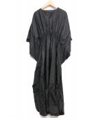 MARIHA(マリハ)の古着「バタフライシルクワンピース」|ブラック
