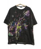 LAD MUSICIAN(ラッドミュージシャン)の古着「フラワープリントビッグTシャツ」|ブラック