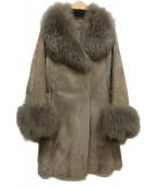 VICKY(ビッキー)の古着「ファーコンビコート」|グレー