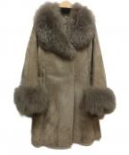 VICKY(ビッキー)の古着「ファーコンビコート」 グレー