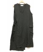 ZUCCA(ズッカ)の古着「バックラップノースリーブワンピース」|ブラック
