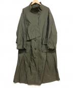 慈雨(ジウ)の古着「キュプラブレンドロングコート」|グレー