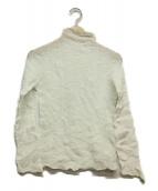 ISSEY MIYAKE(イッセイミヤケ)の古着「ハイネックプリーツブラウス」|ホワイト