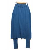 nagonstans(ナゴンスタンス)の古着「レイヤードスカートパンツ」|ネイビー