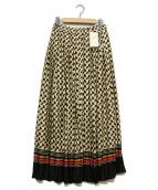 ASTRAET(アストラット)の古着「レトロロングスカート」|アイボリー×ブラック