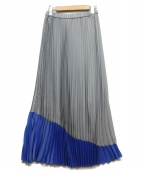 ELENDEEK(エレンディーク)の古着「プリーツスカート」|グレー×ブルー