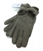 UGG(アグ)の古着「Sheepskin Turned Bow Glove」|グレー