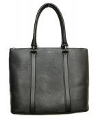 PELLE MORBIDA(ペッレモルビダ)の古着「レザートートバッグ」|ブラック