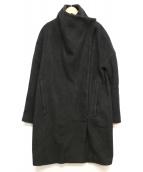 HELMUT LANG(ヘルムートラング)の古着「S/Cコンビ素材比翼コート」|ブラック