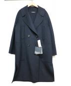 S Max Mara(エス マックスマーラ)の古着「ダブルウールコート」|ネイビー