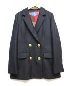 BLUE LABEL CRESTBRIDGE(ブルーレーベルクレストブリッジ)の古着「ダブルテーラードジャケット」 ネイビー