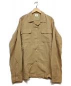 6(ROKU) BEAUTY&YOUTH(ロク ビューティアンドユース)の古着「リネンレーヨンセットアップL/Sシャツ」|ベージュ