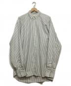 JUN MIKAMI(ジュン ミカミ)の古着「オーバーサイズストライプシャツ」 グレー×ホワイト