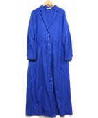 STEVEN ALAN(スティーヴンアラン)の古着「AMUNZEN OPEN COLLAR DRESS」|ブルー