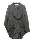 COMME des GARCONS COMME des GA(コムデギャルソン コムデギャルソン)の古着「アシメデザインジャケット」 ブラック