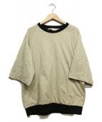 SUNSEA(サンシー)の古着「ポケット付半袖カットソー」|ベージュ