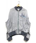 ()の古着「カジュアルジャケット」 ブルー