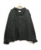 whowhat(フーワット)の古着「ミリタリーワイドジャケット」|ブラック