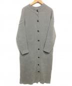 DOUBLE STANDARD CLOTHING(ダブルスタンダードクロージング)の古着「ベロアロングコート」 グレー