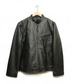 LIUGOO LEATHERS(リューグーレザーズ)の古着「ライナー付レザージャケット」 ブラック