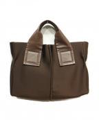 kawa-kawa(カワカワ)の古着「ボンディングトートバッグ」|ブラウン