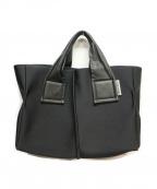kawa-kawa(カワカワ)の古着「ボンディングトートバッグ」|ブラック