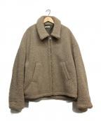 LIDnM()の古着「オーバーサイズボアジャケット」|ベージュ