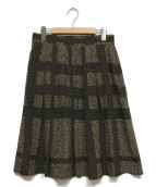 BURBERRY LONDON(バーバリーロンドン)の古着「シルクスカート」|ブラック×ベージュ