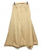 woadblue(ウォードブルー)の古着「フレアロングスカート」|ベージュ