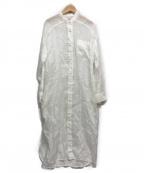 BLANC(ブランク)の古着「リネンシャツワンピース」 ホワイト