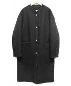 MACKINTOSH(マッキントッシュ)の古着「ノーカラースナップウールコート」|ブラック