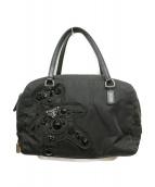 PRADA(プラダ)の古着「イブニングベアーハンドバッグ」|ブラック