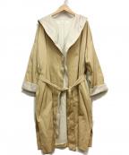 PLAIN PEOPLE(プレインピープル)の古着「フーデットトッパーコート」|ベージュ
