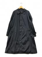 Paul Stuart()の古着「ステンカラーナイロンコート」 ネイビー