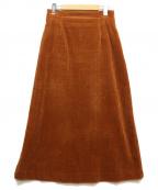 beautiful people(ビューティフルピープル)の古着「コーデュロイスカート」 ブラウン
