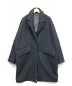 BLENHEIM(ブレンヘイム)の古着「スナップメルトンコート」|ネイビー