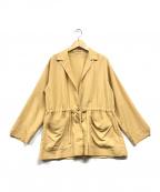 BEAUTY&YOUTH()の古着「ドロストシャツジャケット」|イエロー