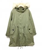 moname(モナーム)の古着「ライナー付デザインモッズコート」 グリーン