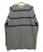 NOMA t.d.(ノーマティーディー)の古着「Big Stripe Sweater」 グレー
