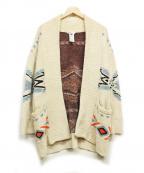 DOUBLE STANDARD CLOTHING(ダブルスタンダードクロージング)の古着「カウチントッパーカーディガン」 アイボリー