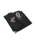LOUIS VUITTON(ルイ ヴィトン)の古着「LVカップシルクカシミヤストール」|ブラック