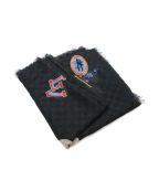 LOUIS VUITTON()の古着「LVカップシルクカシミヤストール」|ブラック